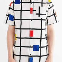 Lazy Oaf Square Grid Button-Down Shirt