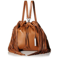 Vince Camuto Womens Sunni Pebbled Leather Backpack