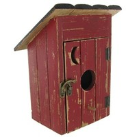 Red & Black Birdhouse Outhouse   Shop Hobby Lobby