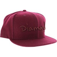 Diamond OG Script Hat 7-3/8 Burgundy