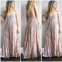 A Gorgeous Crochet Maxi in Taupe