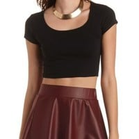 Short Sleeve Crop Top by Charlotte Russe