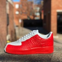 KUYOU Nike Air Force 1 '07 Premium Barely Grey Habanero Red 905345-005