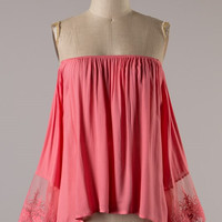 Meadow Dreams Top - Coral