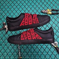 Givenchy 4g Webbing Sneakers In Leather DCCK