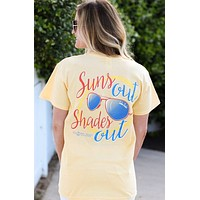 SALE Southern Darlin Suns Out Shade Out Sunglasses Summer Bright Girlie T-Shirt