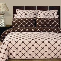 Blush & Chocolate 8PC Bloomingdale Duvet covers and sheet set