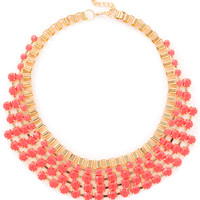 Drew B. Necklace Set - Neon Pink
