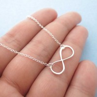 All Sterling silver, Infinity Necklace