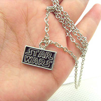 Star Wars Logo Metal Pendant Necklace Fashion Necklace