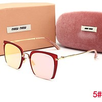 MiuMiu Fashionable Ladies Men Summer Sun Shades Eyeglasses Glasses Sunglasses 5#