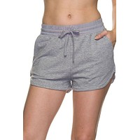 Elastic Drawstring Banded Waist French Terry Active Jogger Mini Shorts