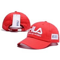 FILA Side-mounted soft-top baseball cap