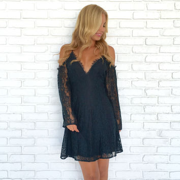 Best Bud Floral Lace Dress In Deep Teal