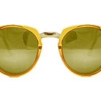Spitfire - Teddy Boy 2 Yellow & Silver Sunglasses, Gold Mirror Lenses