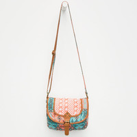 Twice As Nice Crochet Crossbody Bag Coral One Size For Women 25651231301