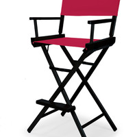 Black Heritage Director Chair - Bar Height - Red Cover