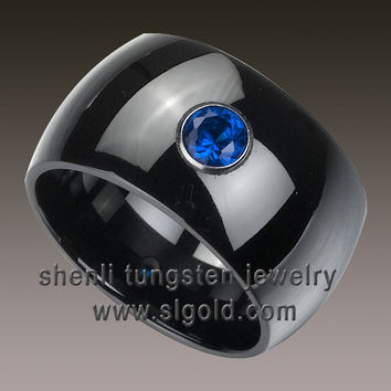large size fashion Black Ceramic Ring