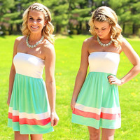 Strapless Stripe Mini Dress