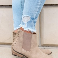 Chance Encounter Booties - Taupe
