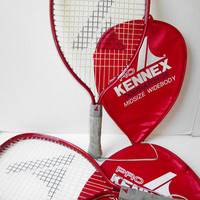 Pro Kennex Racquetball Tennis Rackets Set & Covers Vintage Dominator 29 Midsize Widebody Rackets Sports Indoor Outdoor Games
