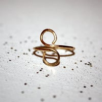 circulus - 14k gold infinity ring by lilla stjarna - gifts under 50 - infinity jewelry, wire wrapped jewelry, delicate ring, gift for her