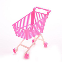 1 X Shopping Trolleys for Barbie Girls Play House Dollhouse Furniture Pink U61