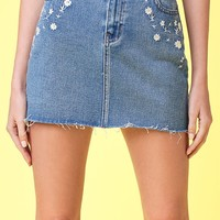 Lottie Moss Ditsy Embroidered Mini Skirt at PacSun.com