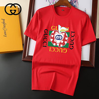 GG men's and women's fashion double G letter round neck short-sleeved T-shirt