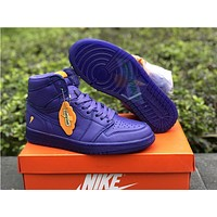 Air Jordan 1 Gatorade Aj5997 Purple 40.5 47.5