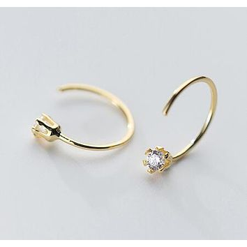 Studdly Gold Hoop Earrings