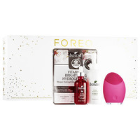 Foreo LUNA™ Holiday Cleansing Collection with Full Size Boscia Products for Sensitive/Normal Skin
