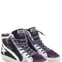 Golden Goose - Slide High-Top Sneakers with Leather and Suede