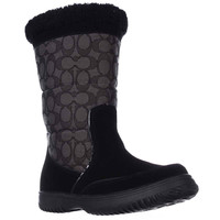 Coach Sherman Signature Cold Weather Boots - Black/Black Smoke
