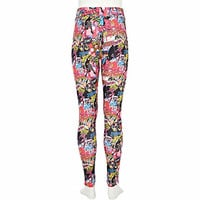 Girls pink Barbie pop art leggings