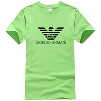 Armani Trending Women Men Leisure Print Sport T-Shirt Top Green
