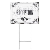 Hortense B. Hewitt Vintage Yard Sign Wedding Accessories, This Way to The Reception