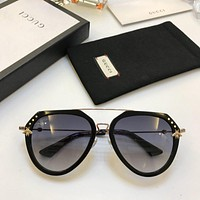 Gucci Fashion Woman Summer Sun Shades Eyeglasses Glasses Sunglasses