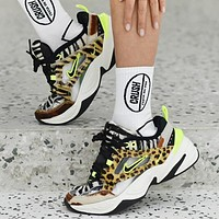 Bunchsun Nike M2K Tekno Fashion New Hook Leopard Print Couple Sports Leisure Running Shoes