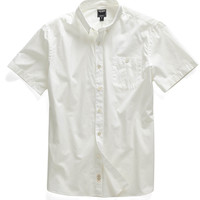 Gordon Poplin Short Sleeve Shirt in White