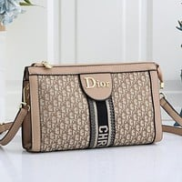 Dior Women Fashion Leather Crossbody Satchel Shoulder Bag