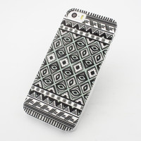H14 - IPHONE 5/5S 5C Plastic Cover Case - IKAT EYES HENNA MAYAN AZTEC TRIBAL