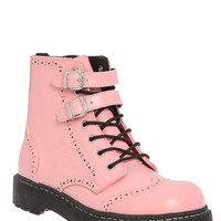 Anarchic By T.U.K. Pink Brogue Boot   Hot Topic