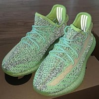 Hipgirls ADIDAS Yeezy Boost 350 V2 new starry luminous casual sneakers