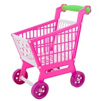Shopping Cart Toys 11.8 Mini Pink Shopping Cart with Full Grocery Food Toy Play set Kids Children Boys Girls Pretend Toys