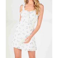 wild honey - floral ruffle strap mini dress