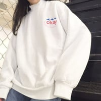 OVERSIZE OKAY SWEATER ( WHITE )