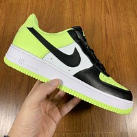 Nike Air force 1 Low Barely Volt New fashion hook couple running shoes