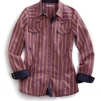Multi Stripe Tin Haul Collection Long Sleeve Urban Western Wear