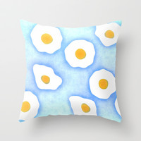 Egg pattern Throw Pillow by SensualPatterns